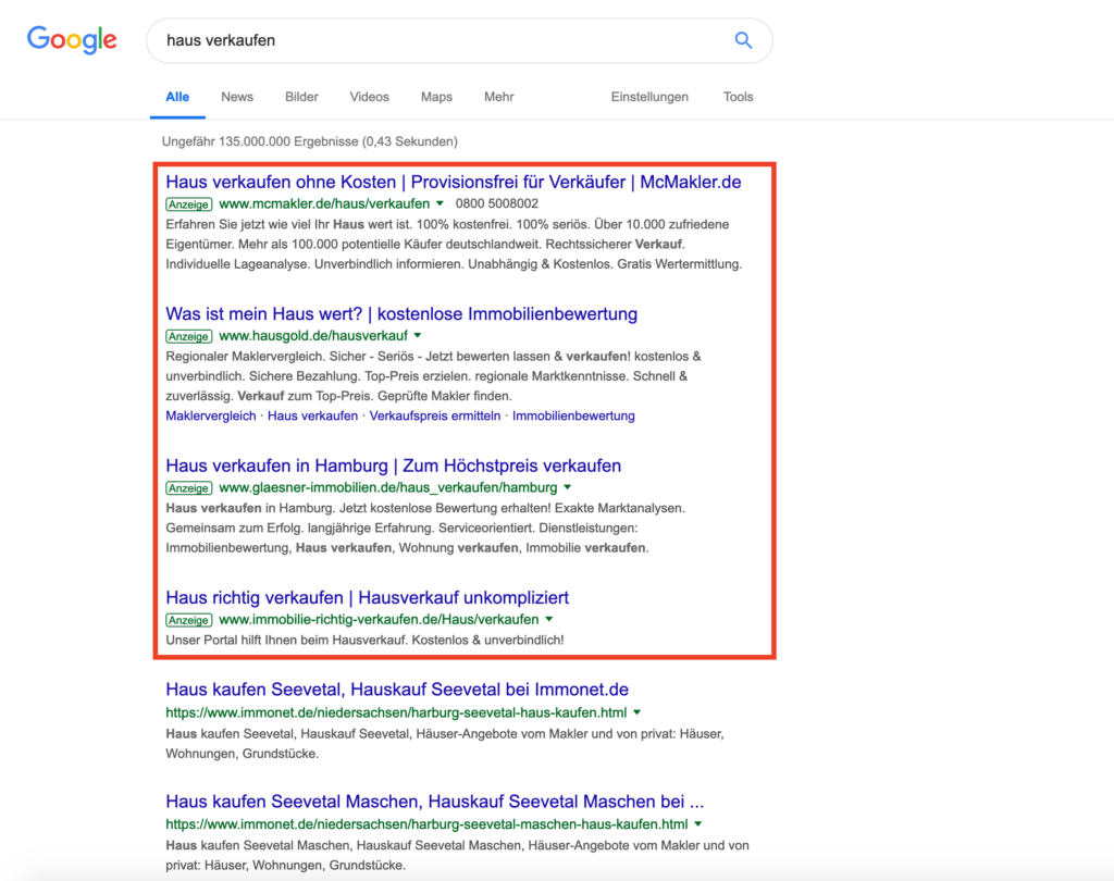 Google Suchnetzwerk