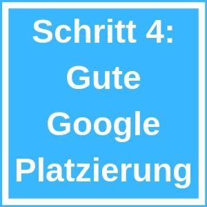 Guten Google Platzierungen
