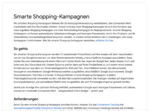 Smart Shopping Kampagnen