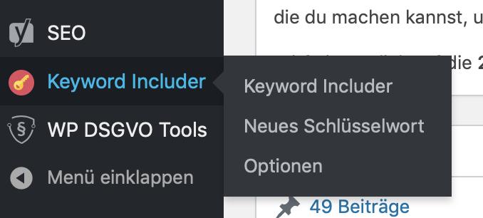 Plugin interne Verlinkungen WordPress