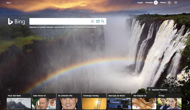 Bing als Suchmaschinen