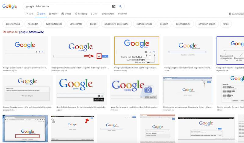 Die Google Bilder Suche