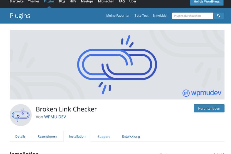 Wordpress Theme Broken Link Checker